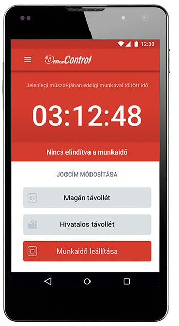 OfficeControl mobil applikáció